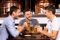 Spending time in bar. Royalty Free Stock Images