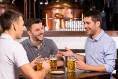 Spending time in bar. Royalty Free Stock Photo