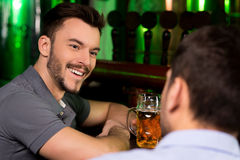 Spending time in bar. Stock Images