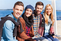 Spending time with best friends. Royalty Free Stock Photos