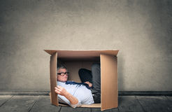 Spending time in a box Royalty Free Stock Images