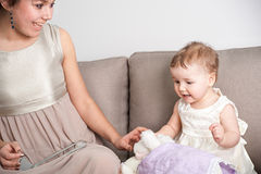 Spending time with children - the best time you can ever have stock photography