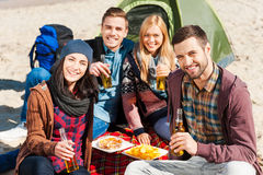 Spending time with friends. Stock Photos
