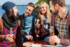 Spending time with friends. Royalty Free Stock Images
