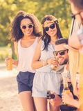 Spending time with friends. Royalty Free Stock Photo