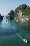 SPending Time in Ha Long Bay stock photography