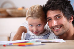 Spending time with his daughter Royalty Free Stock Photos