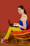 Spending Time on Laptop Royalty Free Stock Photos