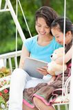 Spending time with mom Royalty Free Stock Photography