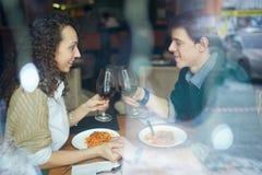Spending time in restaurant Stock Photos
