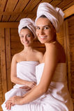 Spending time in sauna. Stock Images