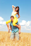 Spends time outdoors. Loving couple spends time outdoors Royalty Free Stock Images