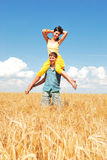 Spends time outdoors. Loving couple spends time outdoors Royalty Free Stock Image