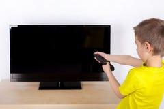 Spenga la TV Fotografia Stock