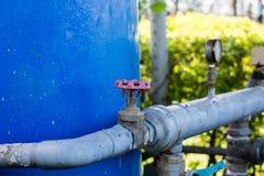 Spenga le valvole del rifornimento idrico Fotografia Stock
