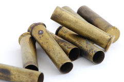 Spent 22 magnum casings Stock Image