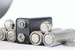 Spent batteries. Royalty Free Stock Photos