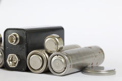Spent batteries. Royalty Free Stock Photo