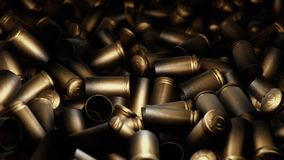 Spent Bullet Case Pile Flyover stock illustration