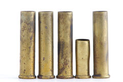 Spent bullet casings. Spent 22 caliber magnum rifle casings Stock Images