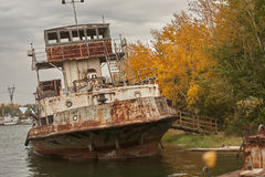 Spent rusty ships Royalty Free Stock Image