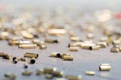 Spent shell casings. Stock Photos