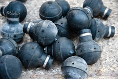 Spent Tear Gas Grenades Stock Image