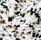 Spent test strips Royalty Free Stock Photos