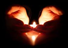 Speranza e preghiera - la fede è nel cuore immagini stock libere da diritti