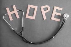 Speranza medica fotografia stock