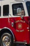Speranza Mills Fire Department Truck Aparatus, Nord Carolina, S.U.A. 7 aprile 2018 immagini stock libere da diritti