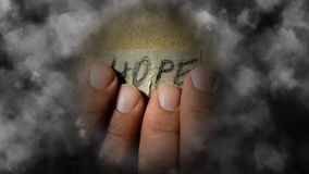 Speranza nebbiosa Speranza Illusive per cercare un'uscita illustrazione vettoriale