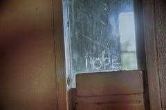 Speranza nella porta della prigione fotografia stock