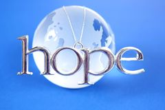Speranza per il mondo fotografia stock