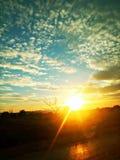 Speranze del fulmine di tramonto immagini stock libere da diritti