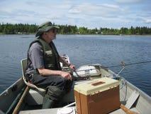 Speranze del pescatore fotografia stock
