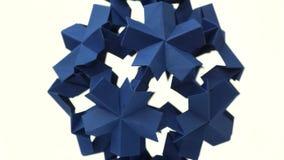 Sperical origami modularny przedmiot royalty ilustracja