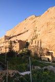 Sperlinga, casas en la roca Foto de archivo libre de regalías