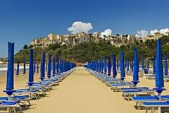Sperlonga. Deserted beach of Sperlonga in Italy Stock Image
