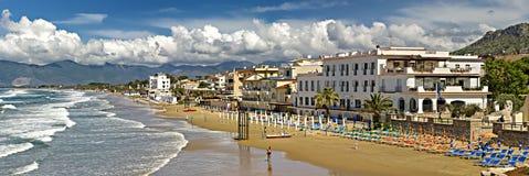 Sperlonga. The beautiful sandy beach of Sperlonga in Italy Royalty Free Stock Images