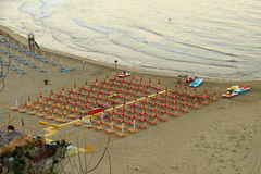 Sperlonga. Is a coastal town in the province of Latina, Italy, about halfway between Rome and Naples.   is mostly a tourist town thanks to its beaches Stock Photo