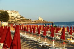 Sperlonga. Is a coastal town in the province of Latina, Italy, about halfway between Rome and Naples.   is mostly a tourist town thanks to its beaches Royalty Free Stock Photos