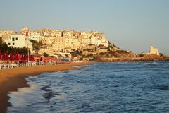 Sperlonga. Is a coastal town in the province of Latina, Italy, about halfway between Rome and Naples.   is mostly a tourist town thanks to its beaches Stock Photography