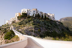 Sperlonga italy. Vacation time the latium coastline in the south of italy. the town of sperlonga Stock Image
