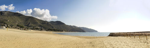 Sperlonga kust Italien Arkivbild