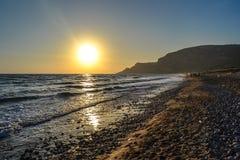 Sperlonga solnedgång Italien royaltyfria bilder