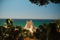 Sperlonga, Torre Troglia obraz royalty free
