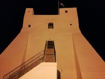 Sperlonga - Torre Truglia på natten Royaltyfria Bilder