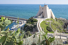 Sperlonga Tower View. Panoramic view of the famous Sperlonga Truglia Tower Royalty Free Stock Image