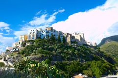 Sperlonga. Was an ancient Roman resort: Roman emperor Tiberius built here a famous villa, including one of the grottoes  which gave the name to the town Royalty Free Stock Image